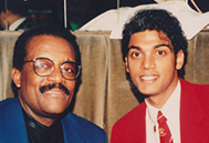 Navi has dinner with the world's most famous lawyer, Johnny Cochrane (Michael Jackson ('93), OJ Simpson, Rodney King